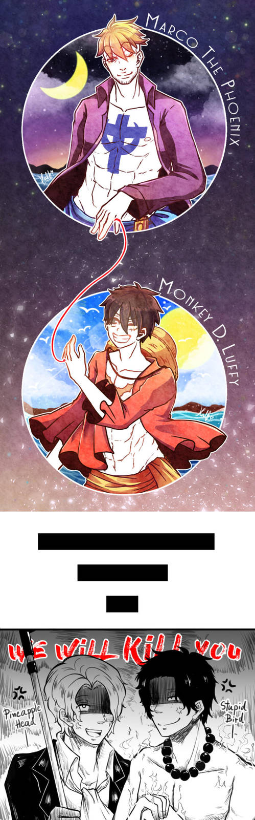 [FanArt] One Piece : MarLu Unmei no akai ito by HalfChe