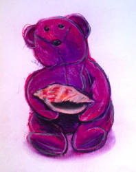 Small Teddy with Seashell by JFrankW