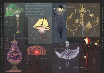 Portfolio page 2: Lamps and Candles by Neonitee