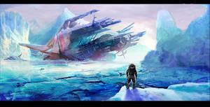 Arctic Desert Wreck by M0nkeyBread