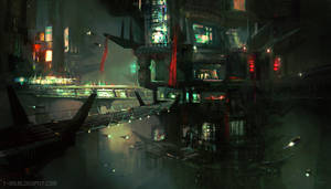 Sci Fi City - CGMA by M0nkeyBread