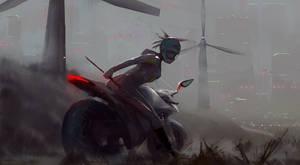 biker girl by M0nkeyBread