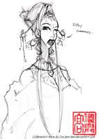 sketch- snooty woman by ben-ben
