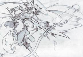 100 Sketch Challenge-  tsukino by ben-ben