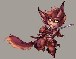 Digital Practice - Tiny Warrior by ben-ben