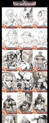 Captain America Sketch Cards by SaviorsSon