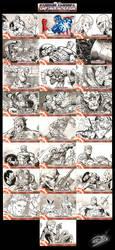 Captain America Sketch Cards 2 by SaviorsSon