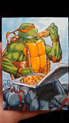Michelangelo Sketch Card by SaviorsSon