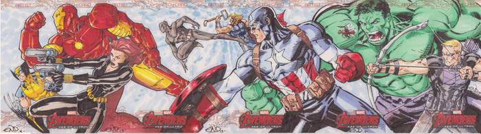 Avengers Age of Ultron Sketch Cards by SaviorsSon