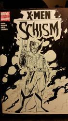 Wolverine X-Men Schism Sketchcover  by SaviorsSon