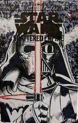 Star Wars sketchcover Darth Vader n Kylo Ren by SaviorsSon