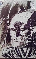 Dark Knight Headshot Sketchcover  by SaviorsSon