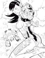 Overwatch DVA inks by SaviorsSon