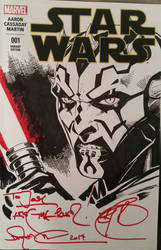 Darth Maul Inks by SaviorsSon