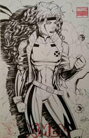 Rogue X-Men Sketchcover by SaviorsSon
