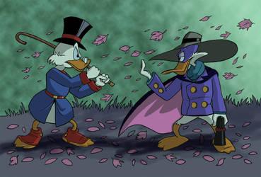 Scrooge McDuck vs Darkwing Duck by Xanadu7