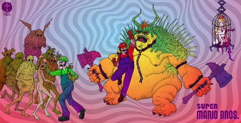 The Psychedelegend of The Super Mario Bros. by MrDusc