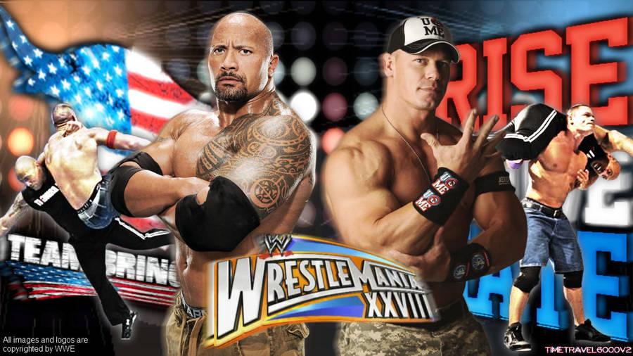The Rock Vs John Cena Hd Wallpaper By Timetravel6000v2 On Deviantart