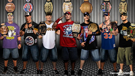 WWE John Cena Title History Wallpaper Widescreen by Timetravel6000v2