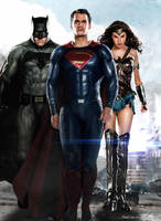 DCEU Trinity Poster (Batman Superman Wonder Woman) by Timetravel6000v2