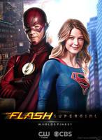 The Flash and Supergirl TV Poster V2 by Timetravel6000v2