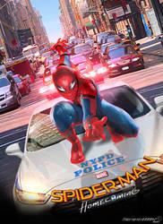 Marvel Spider-man: Homecoming 2017 Teaser Poster by Timetravel6000v2