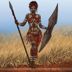 African Warrior SFW by FransMensinkArtist