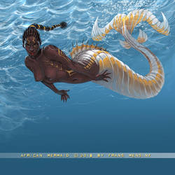 African Mermaid by FransMensinkArtist