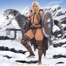 Viking maiden by FransMensinkArtist