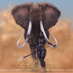 African Elephant by FransMensinkArtist