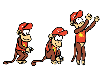 Diddy Kong by SirMadameTheKnight