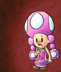 toadette is nervous by SirMadameTheKnight