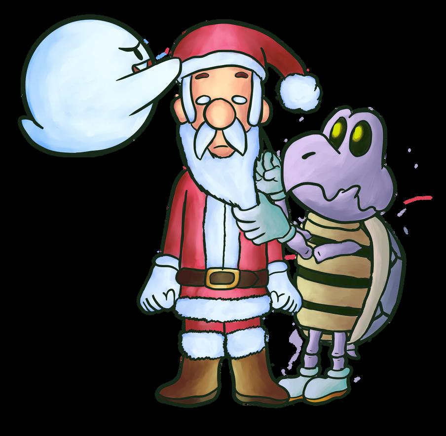 luigi loves christmas by SirMadameTheKnight
