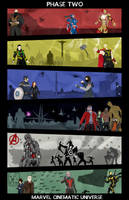 Marvel Cinematic Universe - Phase 2 poster by Mr-Saxon