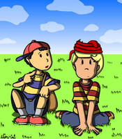 Ness and Lucas by alien-cat