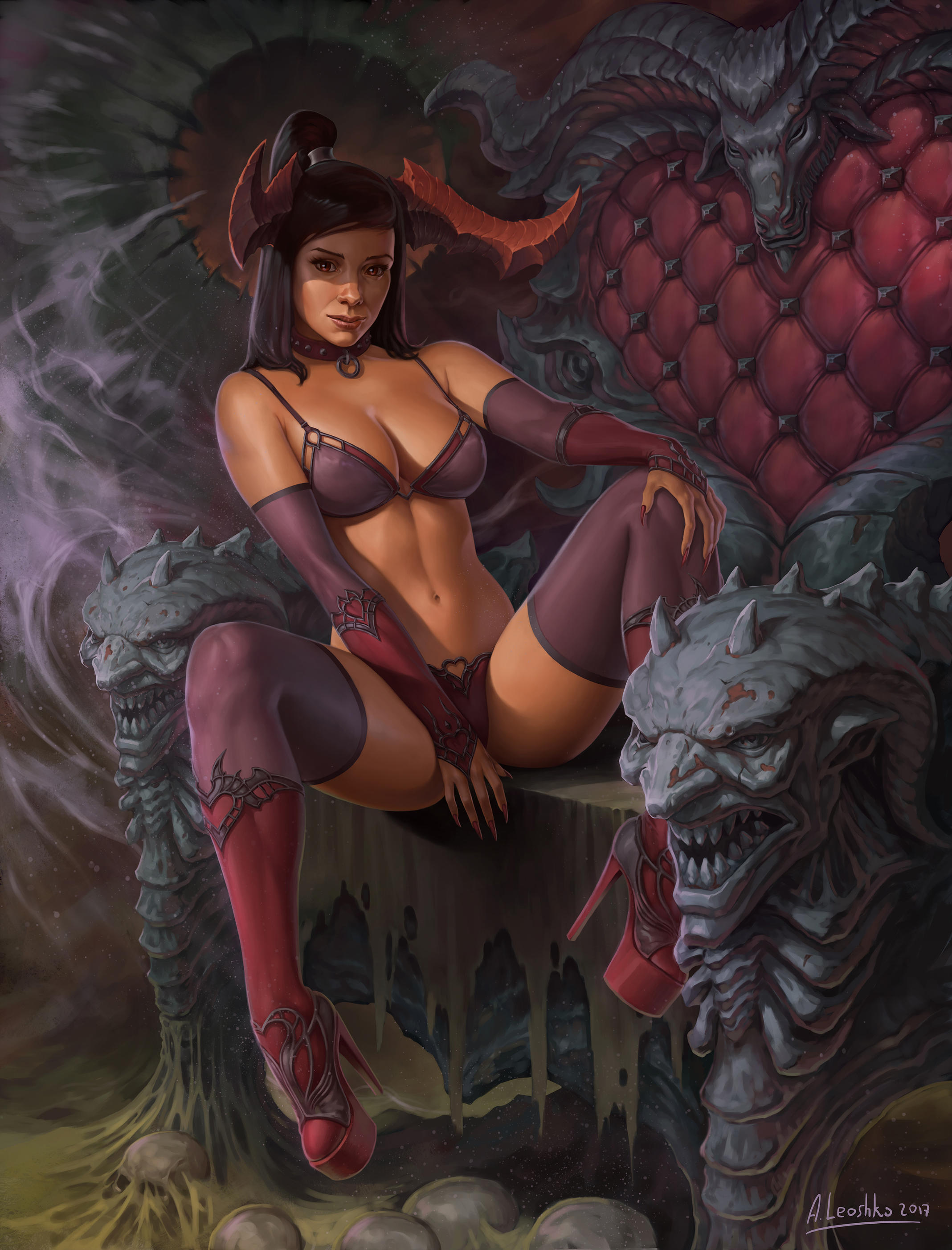 Bapfomets throne by KhezuG