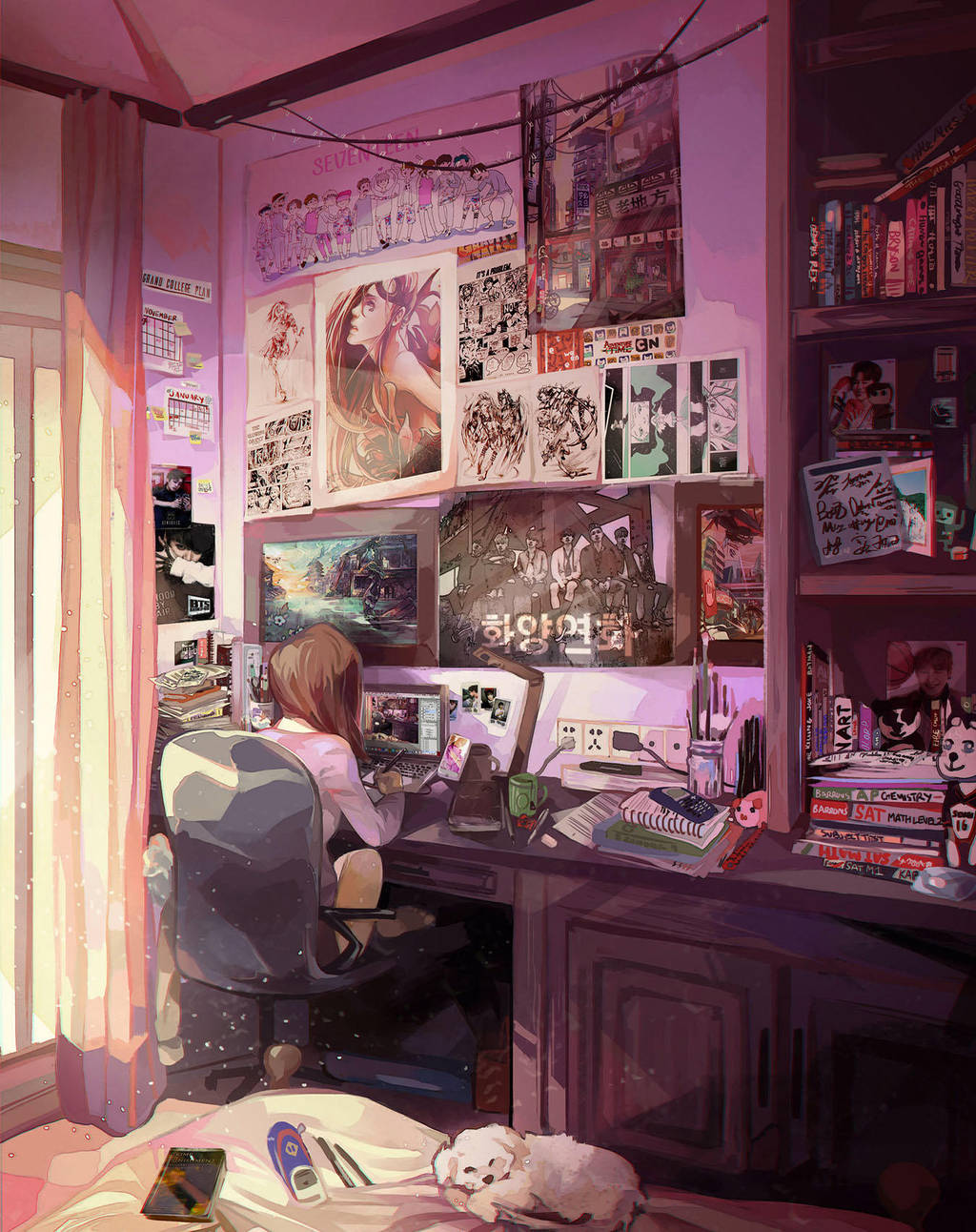 Bedroom Drawing: 24/7=Heaven: Bedroom Study By Renkarts On DeviantArt