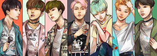 BTS! RUN! by renkarts
