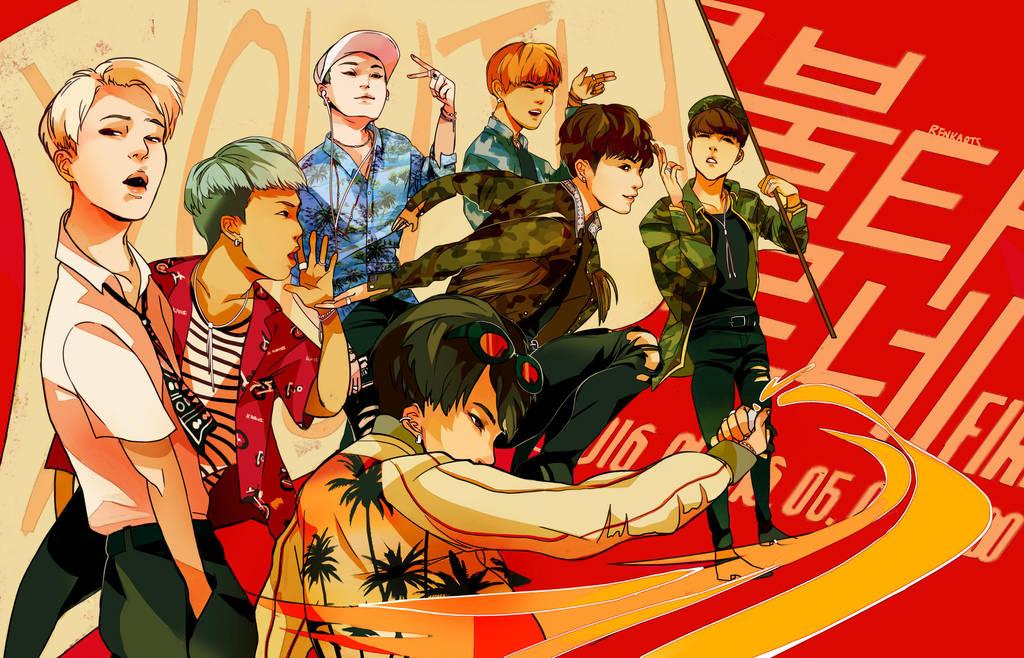 BTS: BURN IT UP by renkarts