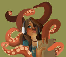 Octopus and Girl by jbsdesigns