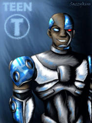 TT: Save The Titans - Cyborg by sazzykins