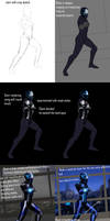 How to draw badass Iron man chick by benchi