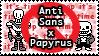 UT: Anti Sans x Papyrus / Fontcest by Sanstima-Stamps