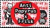 UT: Anti Papyrus x Frisk by Sanstima-Stamps