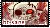UT: Horrortale Sans || Fan Stamp by Sanstima-Stamps