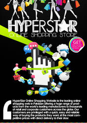 Hyperstar Poster   online shopping store project by umayrr