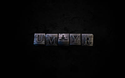 Metallic Typo by umayrr
