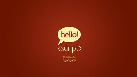 Hello Script - Logo Design by umayrr