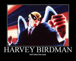 Harvey Birdman by AngryFlashlight