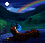 [YCH] Night Rainbow by Noxsha